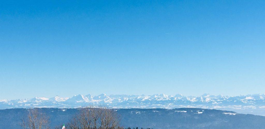 Vue de la vue des Alpes (NE)